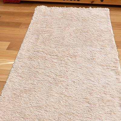【Ambience】進口Bonnie類兔絨長毛毯(床邊/走道毯)-杏色50x150cm