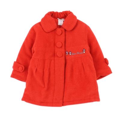 愛的世界 俄羅斯娃娃混羊毛洋裝大衣 6-8歲