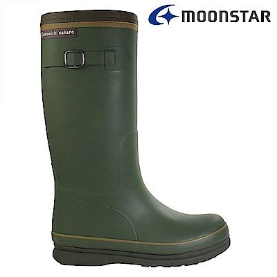 Moonstar日本 女 長筒保暖雨靴 (綠)