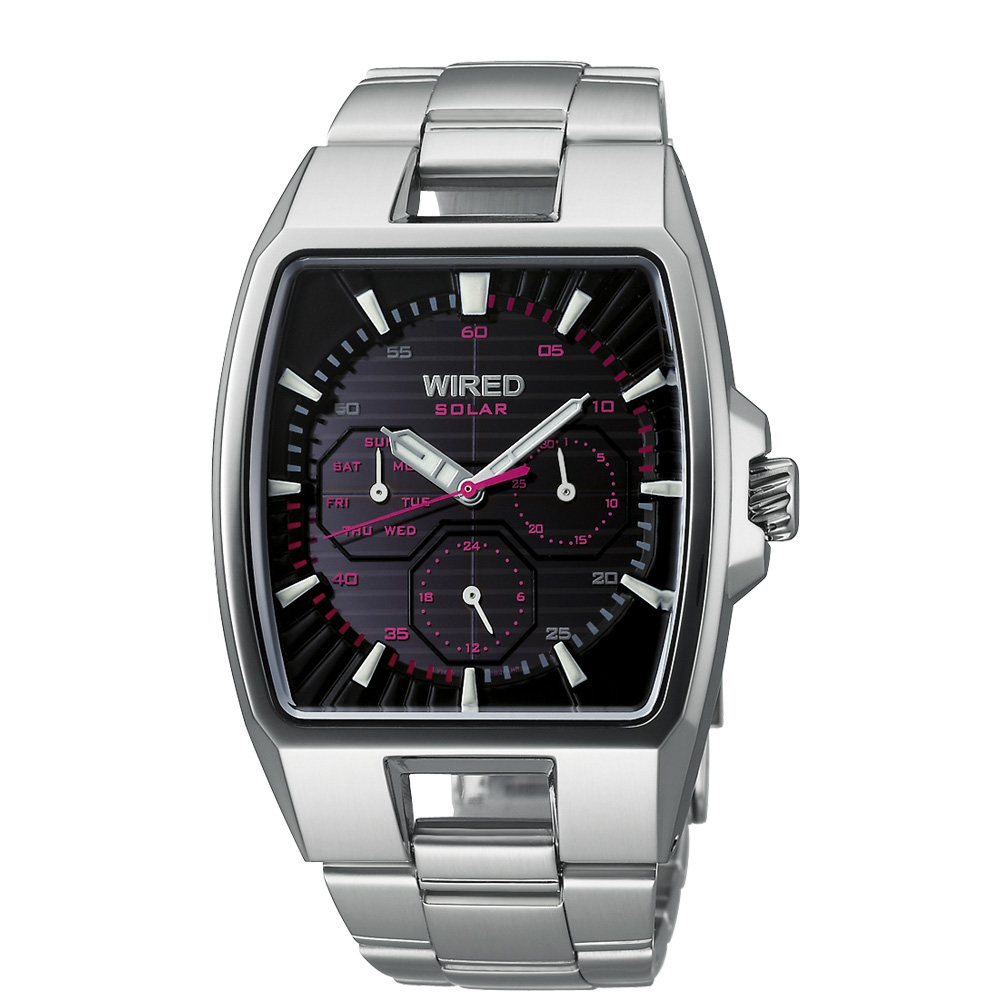 WIRED HYBRID日雜時尚腕錶-37x38mm