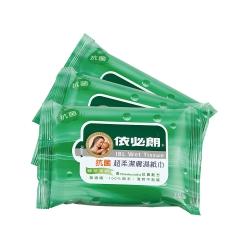 依必朗抗菌超柔潔膚濕紙巾-綠茶(10抽*3入)