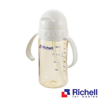 Richell日本利其爾 PPSU吸管型奶瓶260ml
