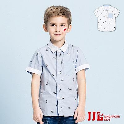 JJLKIDS 可愛帆船口袋純棉短袖襯衫(2色)