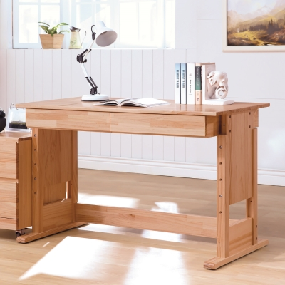 AS-依拉全實木成長升降書桌-120x60x72-80cm