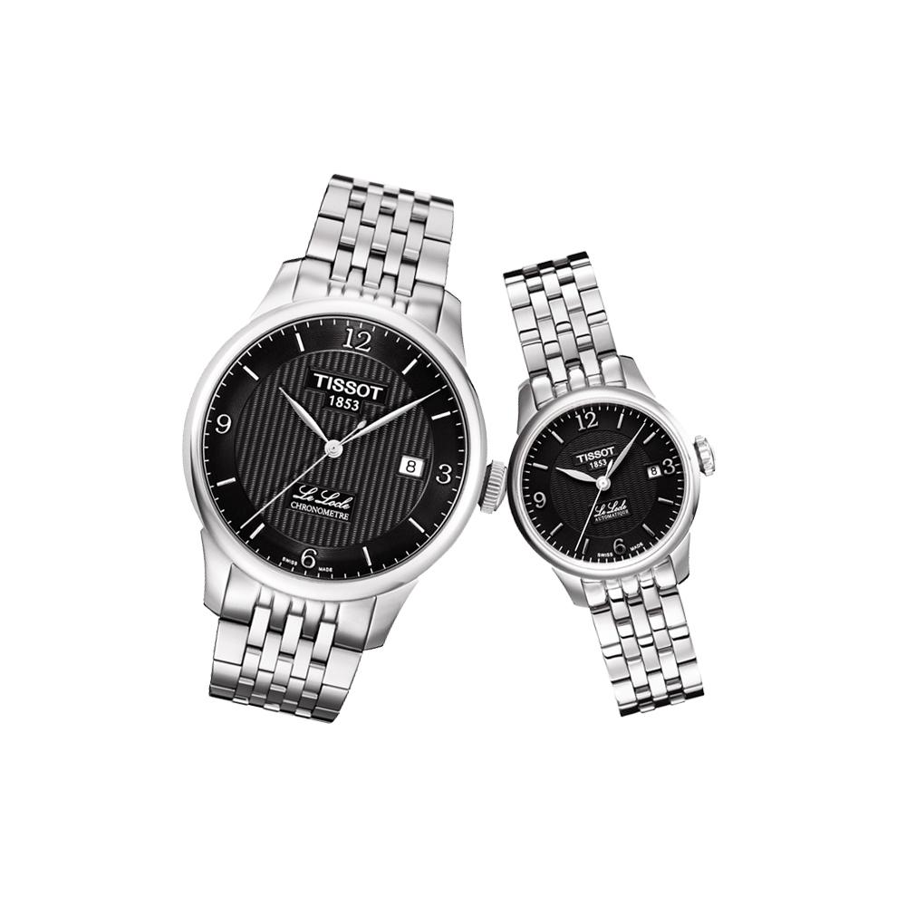 TISSOT Le Locle 經典系列機械對錶-黑