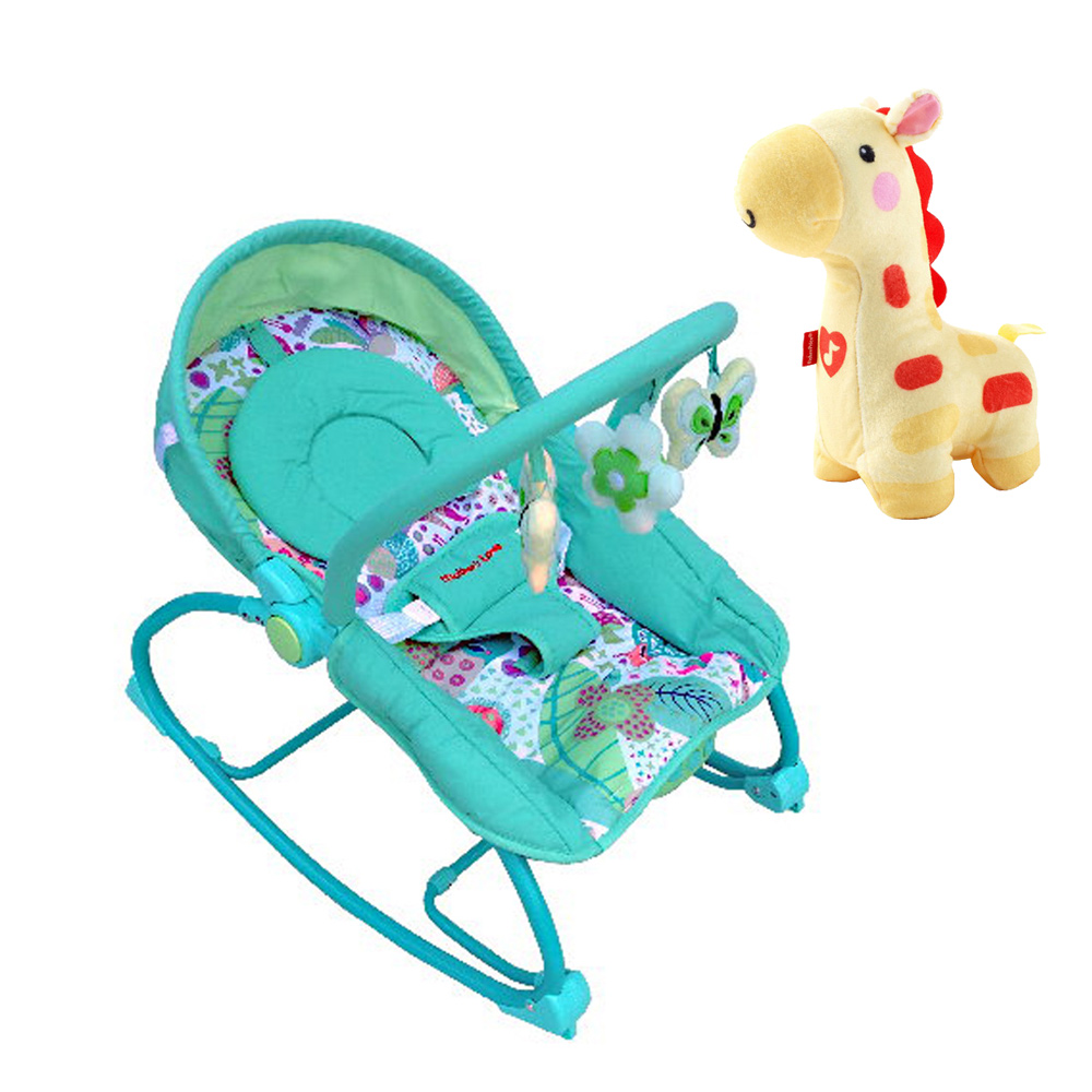 Mother's Love 嬰兒震動搖椅 費雪牌 Fisher 聲光安撫長頸鹿
