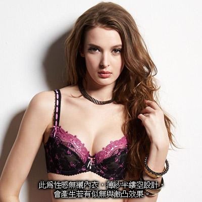 曼黛瑪璉-輕身活-透澈款-C-F罩杯內衣-櫻桃紅