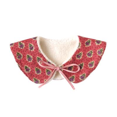 SOULEIADO 芙蓉花2WAY保暖領巾(紅)
