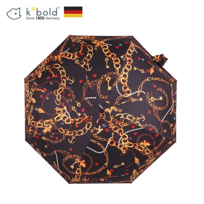 德國kobold酷波德 矽膠頭系列-8K超輕巧抗UV五折傘-黑色