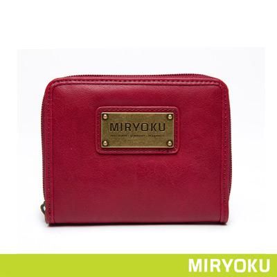MIRYOKU-清新簡約系列-輕巧零錢袋拉鍊短夾