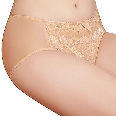 思薇爾 挺美力系列M-XXL蕾絲中腰三角內褲(金檳膚)