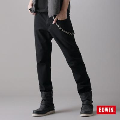 【EDWIN】簡約崇尚 W-F PREMIuM中直筒保溫褲-男款(黑色)