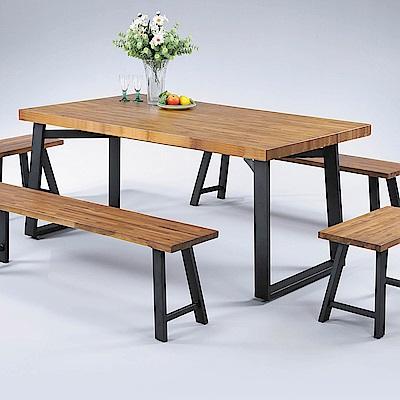 H&D 正柚木4.4尺長方桌 (寬132X深89.6X高76cm)