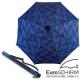 【德國 EuroSCHIRM】BIRDIEPAL 戶外專用風暴傘(指北針)_方格黑藍 product thumbnail 2