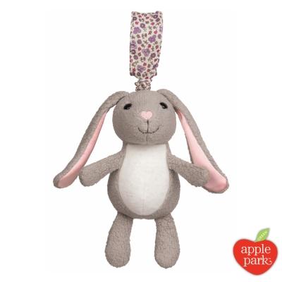 美國 Apple Park 手拉震動搖鈴玩偶 - 花瓣長耳兔