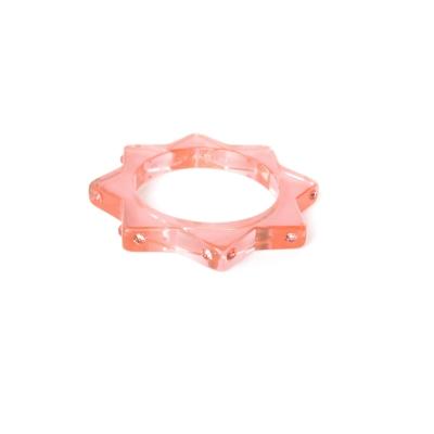 Anna Lou OF LONDON 倫敦品牌 STAR 粉紅色星星手環 鑲水晶星星手環