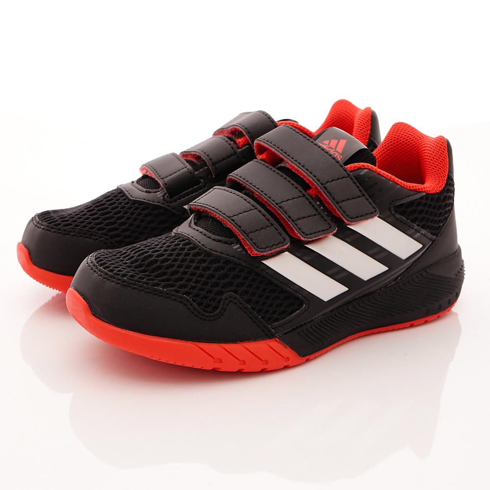adidas童鞋-網狀透氣慢跑鞋款-SE424黑(中大童段)HN