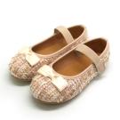 天使童鞋-D378 氣質編織格紋公主鞋(中童)-優雅白