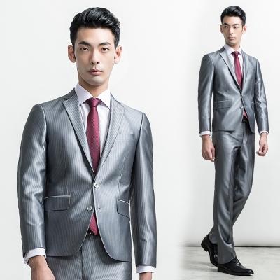 per-pcs 首選經典直條紋西裝外套_灰色(714316)