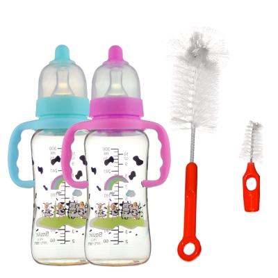 【貝喜力克】防脹氣PES握把奶瓶特惠組