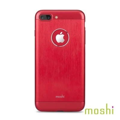 Moshi Armour for iPhone 7 Plus/8 Plus 焰紅 鋁製保護背殼