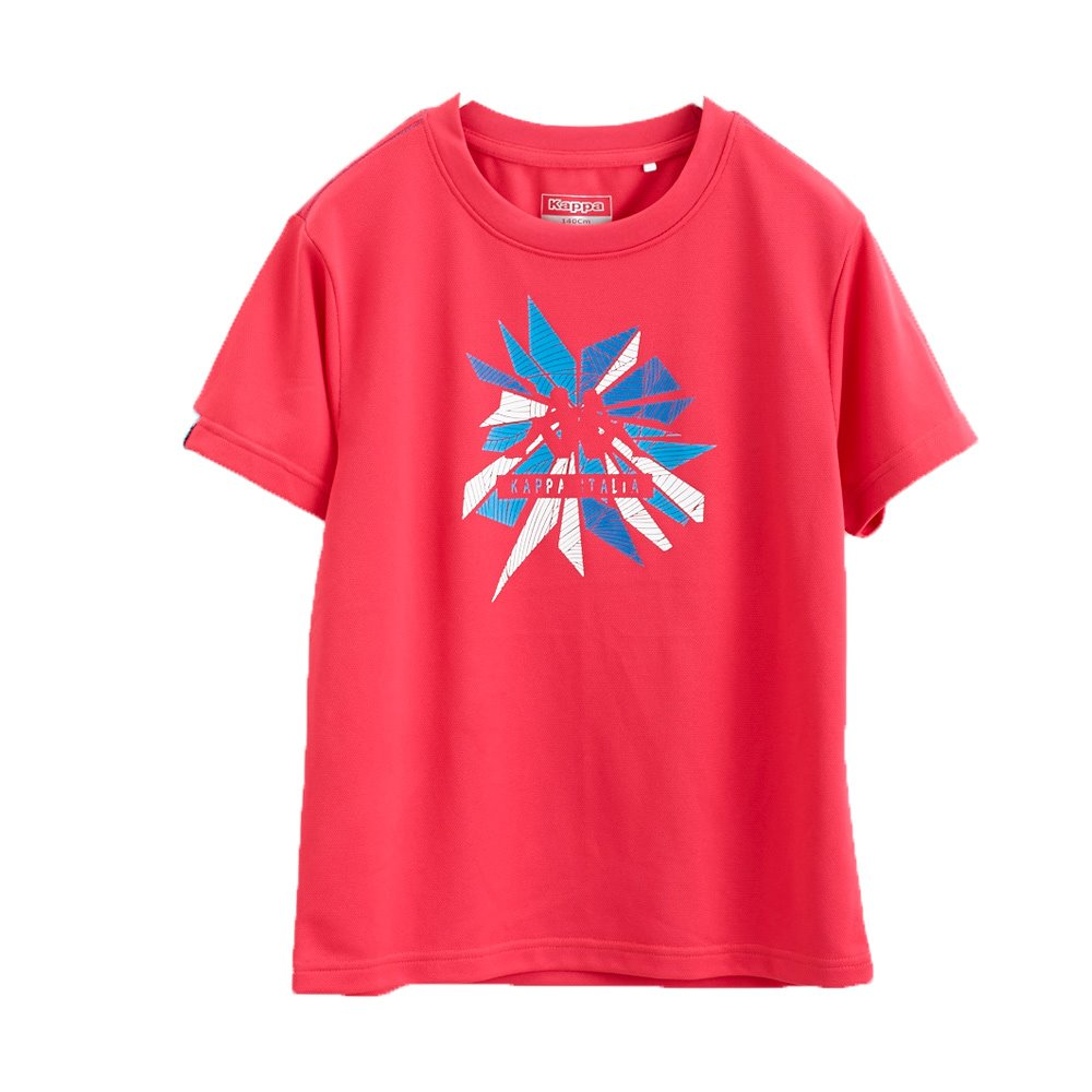 KAPPA義大利小朋友吸濕排汗速乾KOOL DRY彩色短袖衫 海棠紅