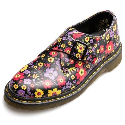 Dr.Martens JAIME-單扣孟克鞋-女款-碎花黑
