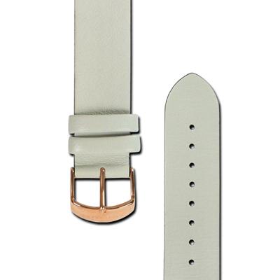 HyperGrand  Classic 經典極簡工業風真皮錶帶-淺灰色/20mm