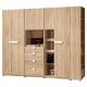 品家居-朵雅莉8尺多功能組合衣櫃
