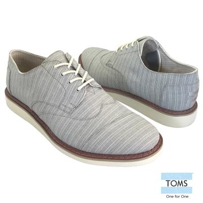 TOMS 條紋織面牛津鞋-男款(藍)
