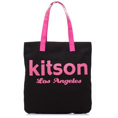 kitson 美式學院風方型托特包(BLACK)