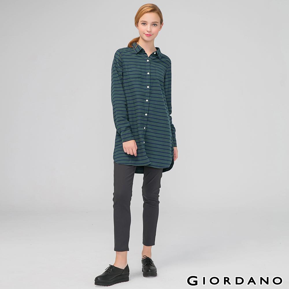 GIORDANO 女裝修身顯瘦彈力窄管褲-08 碳黑色
