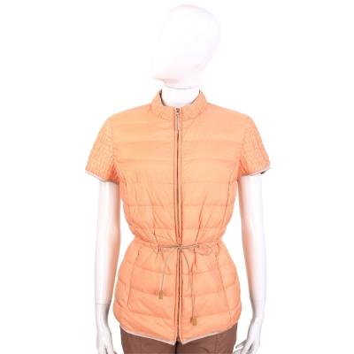 FABIANA FILIPPI 粉橘色抓皺設計拉鍊短袖外套