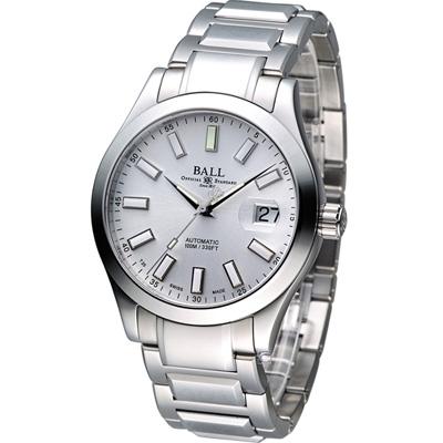 BALL 工程師 Marvelight 大三針機械腕錶-白/40mm
