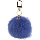 TORY BURCH Fur Pom-Pom 狐狸毛球吊飾(藍色)