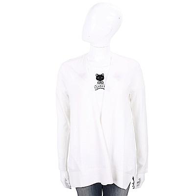 ALLUDE 喀什米爾純色極簡針織羊毛罩衫