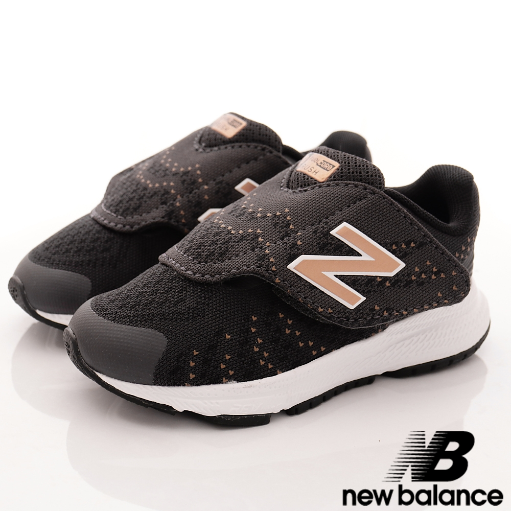 NewBalance 時尚針織學步鞋款 VRUSBZI 黑 (寶寶段)