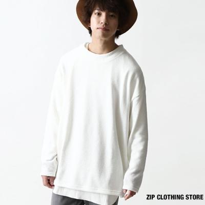 寬版針織衫-ZIP日本男裝