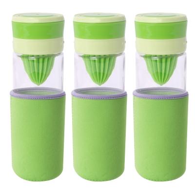 EGHome 宜居家 多功能玻璃榨汁/泡茶/磨汁杯_三入組(500ml)(附杯套、清潔刷)