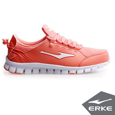 ERKE 鴻星爾克。女運動健身慢跑鞋-桃花橘