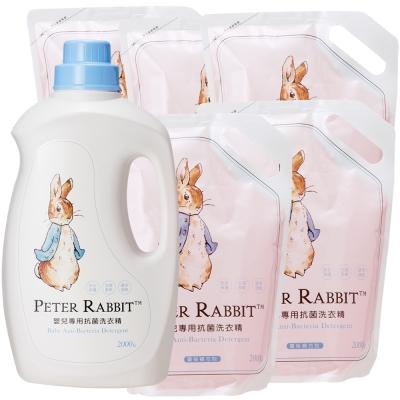 奇哥 比得兔抗菌洗衣精 (1罐+5補充包)
