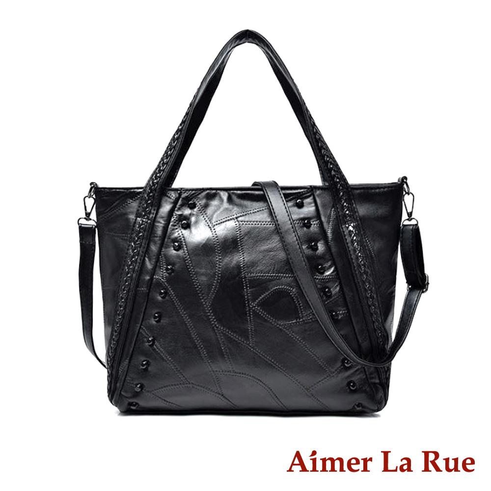 Aimer La Rue 側背肩背包 羊皮紐約OL系列(黑色)