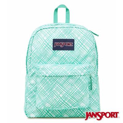 JanSport -SUPERBREAK系列校園後背包 -湖水綠格格