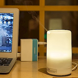 ANTIAN 日式迷你加濕器/香氛機/水氧機/空氣清淨機 七彩小夜燈