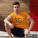 JEEP 美式潮流立體浮雕短袖TEE-黃色