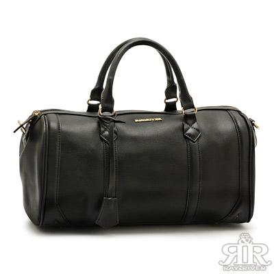 2R-城市魅力R-bag牛皮波士頓包-大版-百搭黑