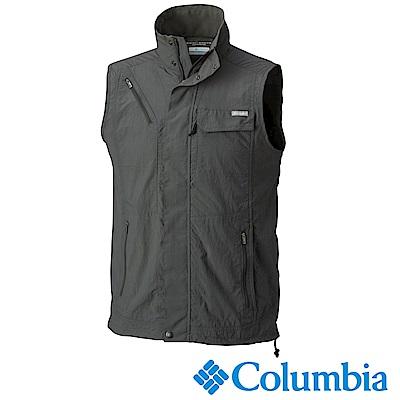 Columbia 哥倫比亞 男款-防曬50快排釣魚背心-深灰 UAE01730DY