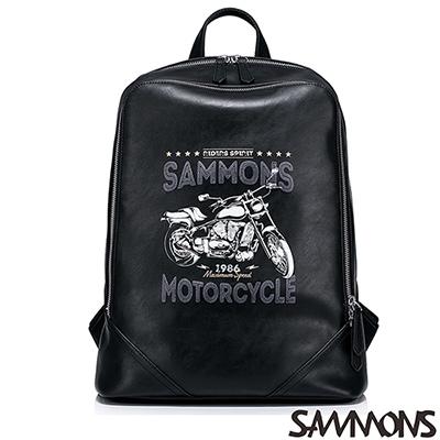 SAMMONS 丹尼爾率性後背包 搖滾黑