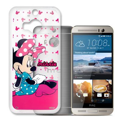 迪士尼授權 HTC One M9+ 透明軟式手機殼(優雅米妮)
