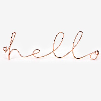 Dailylike 玫瑰金字母造型壁面掛鉤-01 Hello